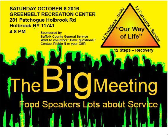 The BIG Meeting @ Greenbelt Recreation Center | Holtsville | New York | United States