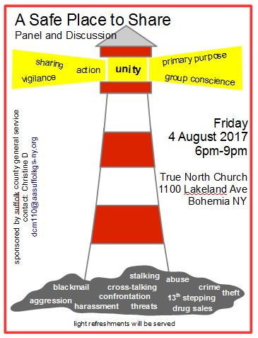 A Safe Place to Share @ True North Community Church | Bohemia | New York | United States