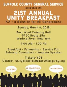 Unity Breakfast @ East Wind Catering Hall | Wading River | New York | United States