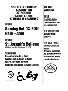 2019 SIA Share-a-thon @ St. Josephs College   Patchogue   New York   United States