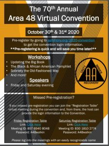 Area 48 Virtual Convention @ Virtual via Zoom