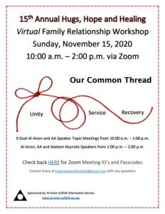 Hugs, Hope and Healing 2020 @ Virtual via Zoom | Dix Hills | New York | United States