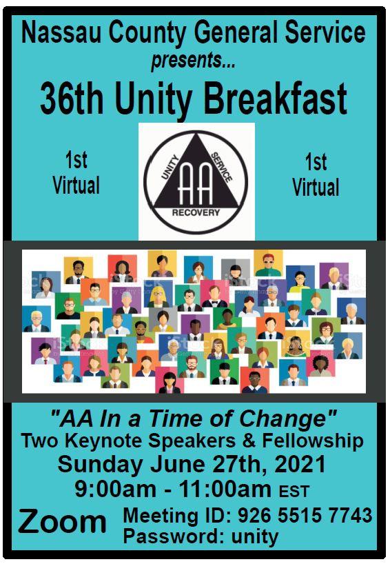 Virtual: Nassau County 36th Unity Breakfast @ Virtual via Zoom